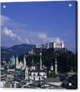 A View Of The City Of Salzburg From An Acrylic Print by Taylor S. Kennedy