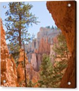 A View Of The Hoodoos And Erosion Acrylic Print