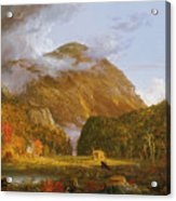 A View Of The Mountain Pass Called The Notch Of The White Mountains Acrylic Print by Thomas Cole