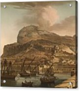 A View Of The Rock Of Gibraltar From The Spanish Lines 1782 Acrylic Print
