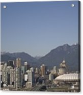 A View Of The Skyline Of Vancouver, Bc Acrylic Print