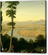 A View Of The Tiber And The Roman Campagna From Monte Mario Acrylic Print