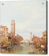 A View Of Verona Acrylic Print by George Clarkson Stanfield
