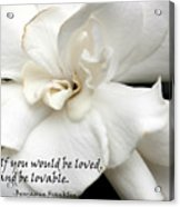 A View On Love Acrylic Print