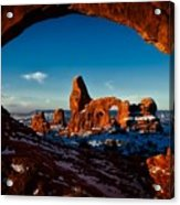 A View Through The Arch Acrylic Print