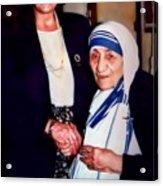 A Vist With Mother Teresa Acrylic Print
