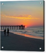 A Walk At Sunrise - Avalon New Jersey Acrylic Print