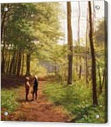 A Walk In The Forest Acrylic Print by Niels Christian Hansen