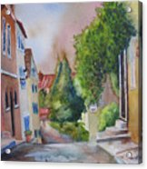 A Walk In The Village Acrylic Print