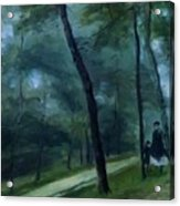A Walk In The Woods Madame Lecoeur And Her Children 1870 Acrylic Print