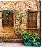 A Wall In Chania Acrylic Print