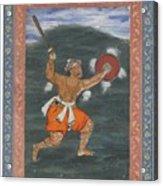 A Warrior Brandishing A Sword Acrylic Print
