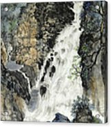 A Waterfall In Quebec Acrylic Print