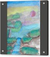 A Waterfall In Val Rennikh Acrylic Print