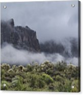 A Wave Of Fog On The Superstitions  Acrylic Print