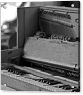 A Weathered Piano Acrylic Print
