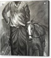 A Welsh Miner Acrylic Print
