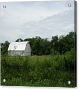 A White Barn In Missouri Acrylic Print