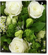 A White Roses Bouquet For You Acrylic Print