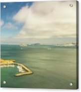 A Wide View Of San Francisco Bay Looking Toward The City And Alc Acrylic Print