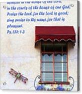 A Window Ps. 135 V 1-3 Acrylic Print