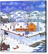 A Winter Evening Acrylic Print
