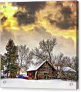 A Winter Sky Acrylic Print by Steve Harrington