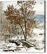 A Winter's Boardwalk Acrylic Print