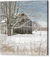 A Winters Day Square Acrylic Print