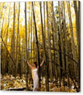 A Woman In The Aspen Acrylic Print