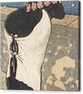A Women On The Coas Acrylic Print