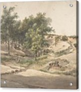 A Wooded Landscape Near Beekhuizen Acrylic Print