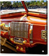 A Woodie At The Beach Acrylic Print