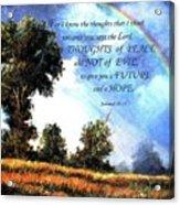 A Word Of Hope Acrylic Print