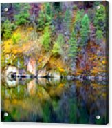 A Yellow Lake Calm Acrylic Print