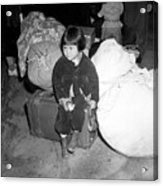 A Young Evacuee Of Japanese Ancestry Acrylic Print by Stocktrek Images
