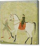 A Young Prince On Horseback Acrylic Print