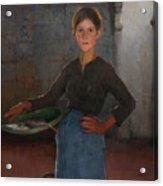 A Zandvoort Fishergirl Acrylic Print