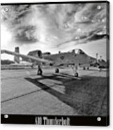 A10 Thunderbolt Acrylic Print by Greg Fortier