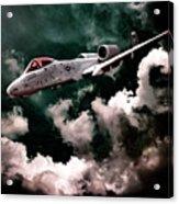 A10 Thunderbolt In Flight Acrylic Print