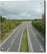 A27 Dual Carriageway Totally Clear Of Traffic. Acrylic Print