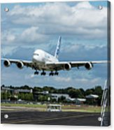 A380 Airbus Plane Landing Acrylic Print