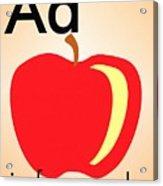 Aa Is For Apple Acrylic Print