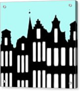 Aan De Amsterdamse Grachten - On The Amsterdam Canals Acrylic Print
