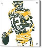Aaron Rodgers Green Bay Packers Pixel Art 15 Acrylic Print