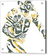 Aaron Rodgers Green Bay Packers Pixel Art 22 Acrylic Print