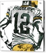 Aaron Rodgers Green Bay Packers Pixel Art 6 Acrylic Print