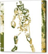 Aaron Rodgers Green Bay Packers Water Color Art 1 Acrylic Print