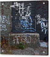 Ababdoned Doorway Wiiliamsburg Brooklyn Acrylic Print