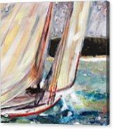 Abaco Dinghy Race II Acrylic Print